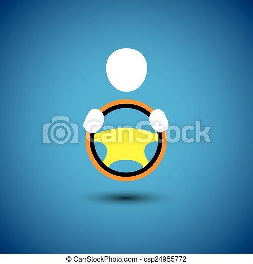 car, vehicle or automobile driver icon or symbol- vector graphic - csp24985772