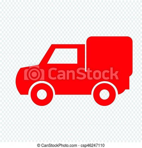 car, vetorial, ilustração, ícone - csp46247110