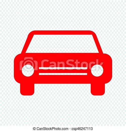 car, vetorial, ilustração, ícone - csp46247113