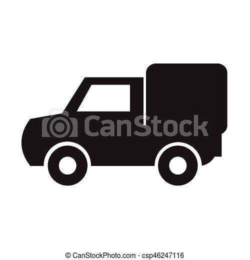 car, vetorial, ilustração, ícone - csp46247116
