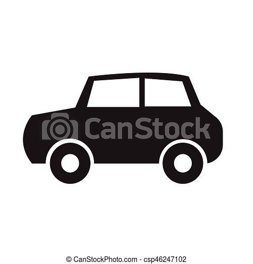 car, vetorial, ilustração, ícone - csp46247102
