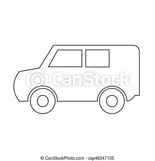 car, vetorial, ilustração, ícone - csp46247105