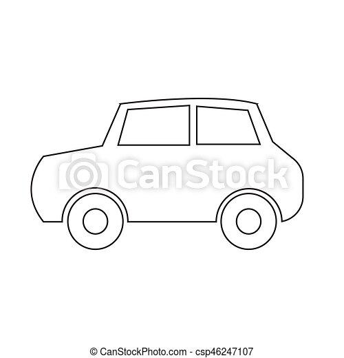 car, vetorial, ilustração, ícone - csp46247107