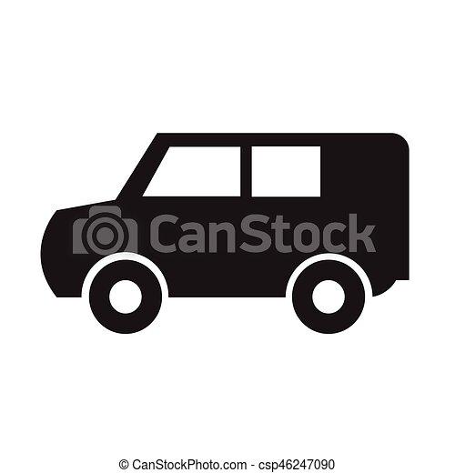 car, vetorial, ilustração, ícone - csp46247090
