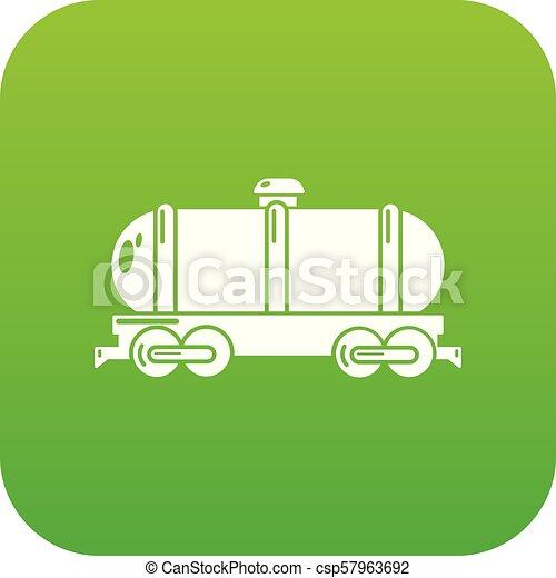 car, vetorial, tanque, verde, ícone - csp57963692