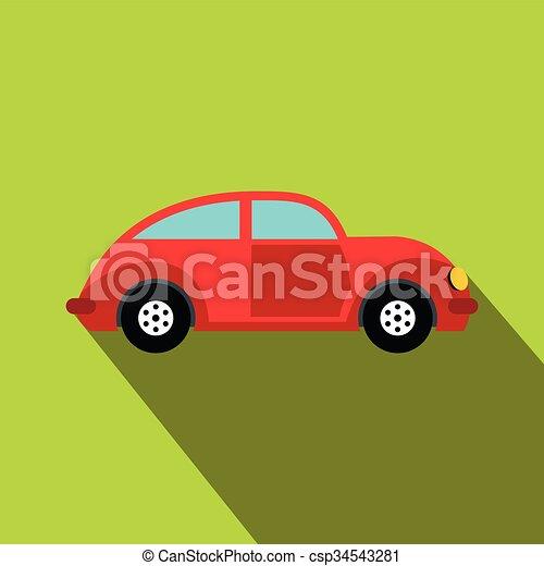 Car vintage car icon, flat style - csp34543281