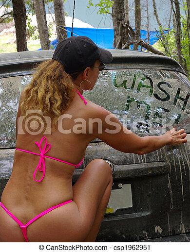 Thong Bikini Car Wash