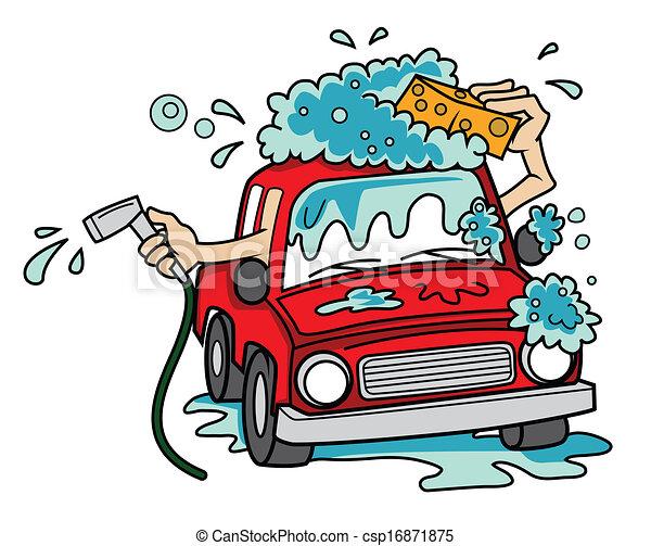car wash cartoon vector illustration rh canstockphoto com car wash cartoon logo car wash cartoon for kids