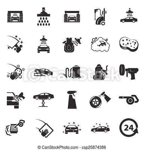 Car wash icon - csp25874386