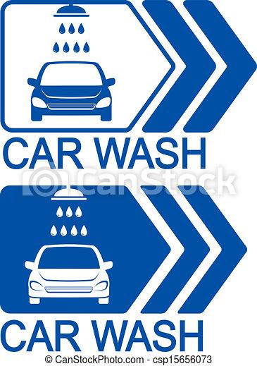 car wash icon with arrow - csp15656073