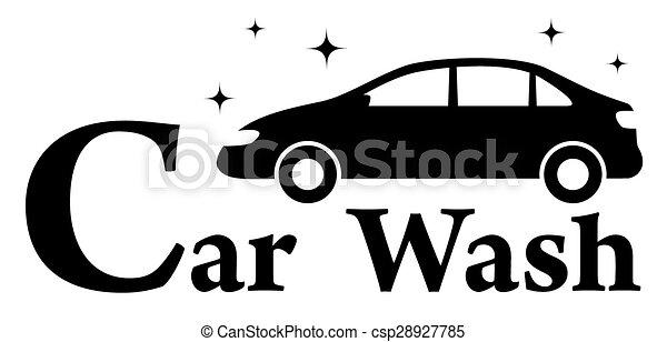car wash icon with clean automobile - csp28927785