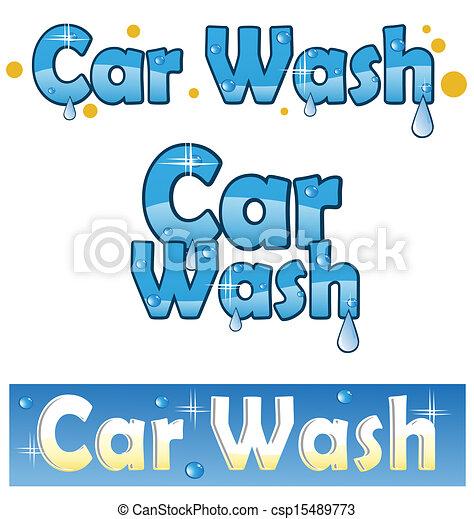Car Washing Word Clip Art