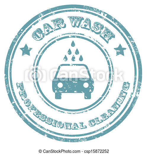 Car Wash-stamp - csp15872252
