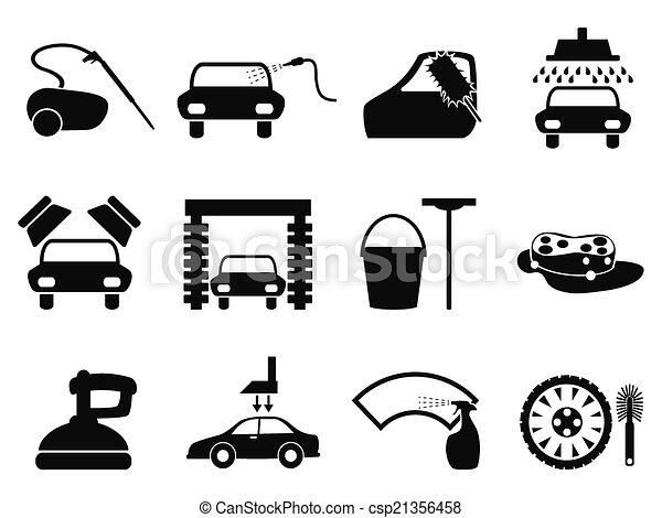 car washing icons set - csp21356458