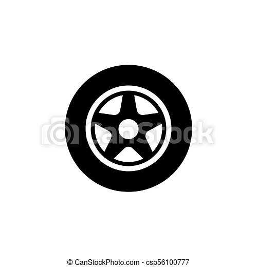 ed3d2146f4fdd4 Car wheel flat vector icon. Car wheel. flat vector icon. simple ...