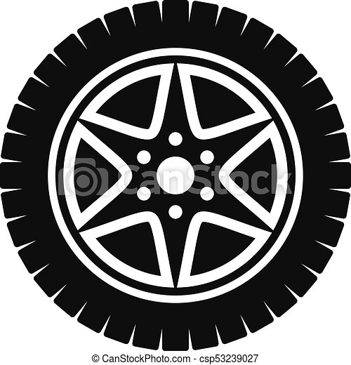 4ff6e7809c4015 Car wheel icon, simple style. Car wheel icon. simple illustration of ...