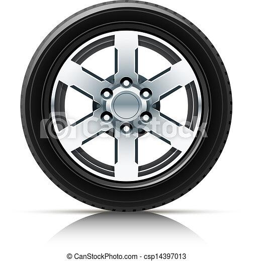 car wheel vector clipart eps images 57 436 car wheel clip art