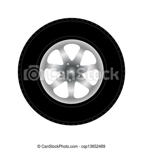 Car Wheel, vector illustration - csp13652489
