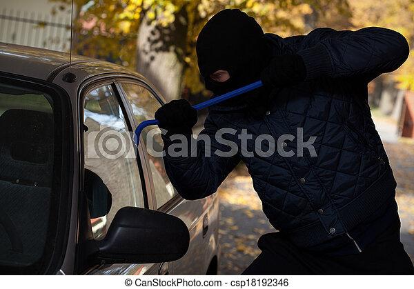 Car window break-in - csp18192346