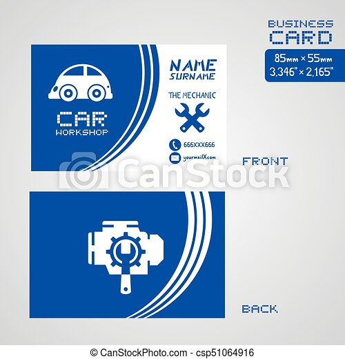Car workshop business card design creative design of car workshop car workshop business card design csp51064916 colourmoves