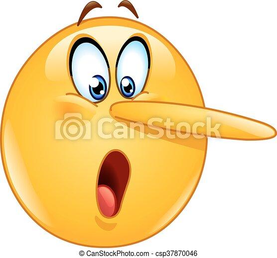 Emoticono de cara mentirosa - csp37870046