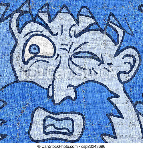 Hombre de la cara azul - csp28243696