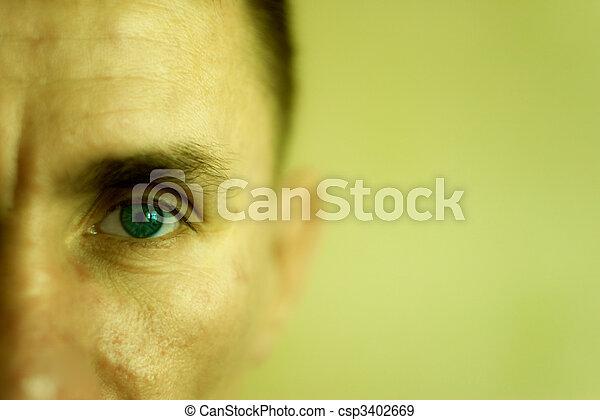 El hombre de la cara cerrada - csp3402669