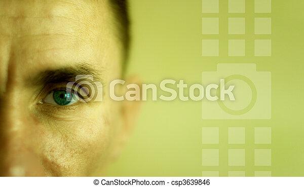 El hombre de la cara cerrada - csp3639846