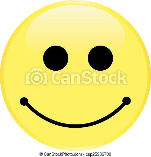 Cara sonriente amarilla - csp25336700