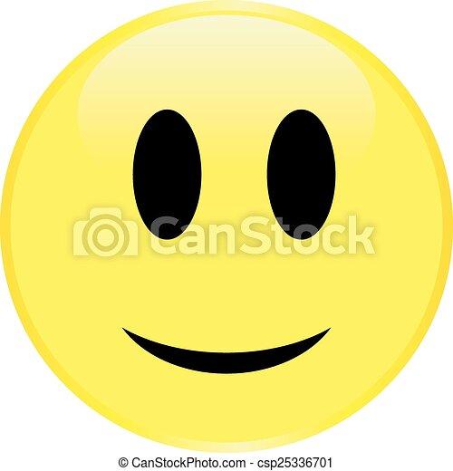 Cara sonriente amarilla - csp25336701