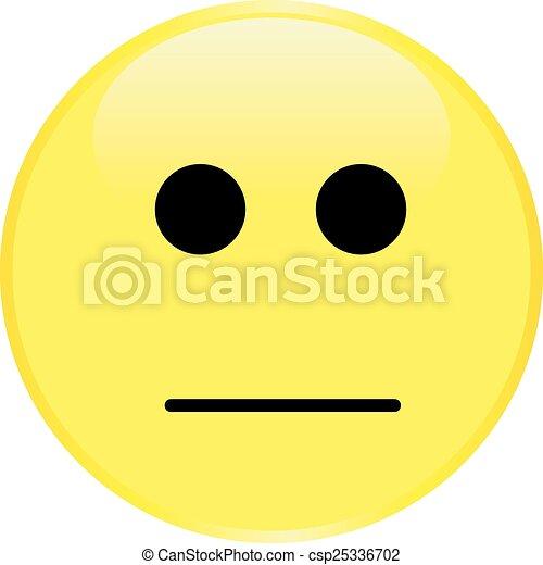 Cara sonriente amarilla - csp25336702