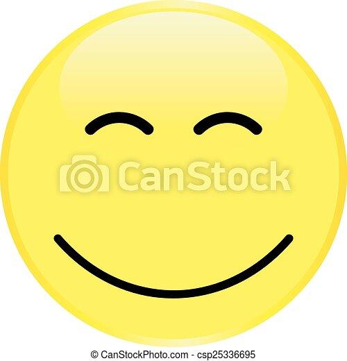 Cara sonriente amarilla - csp25336695