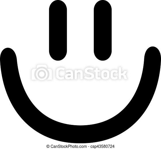 El icono sonriente sonriente - csp43580724