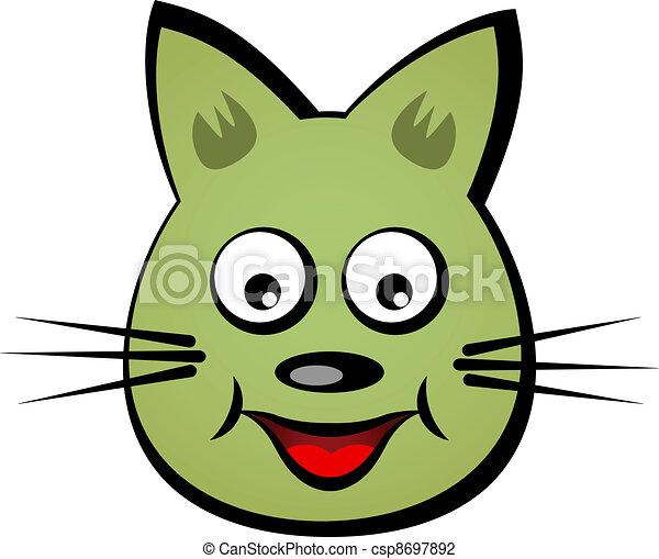 Cara Sonriente Vector Caricatura Gato