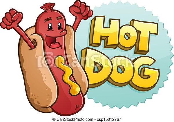 caractère, chaud, embl, chien, dessin animé - csp15012767