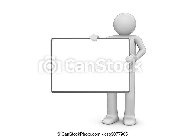 caractère, copyspace - csp3077905