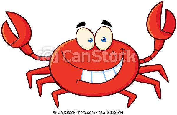 caractère, dessin animé, crabe, mascotte - csp12829544