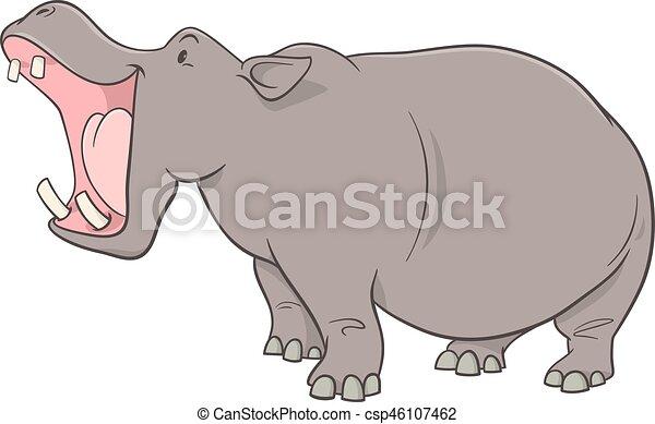 Caract re dessin anim hippopotame caract re clip - Dessin d hippopotame ...