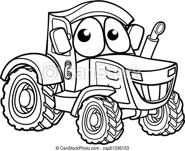 Caractere Dessin Anime Tracteur Ferme Caractere Illustration Vehicule Dessin Anime Tracteur Canstock