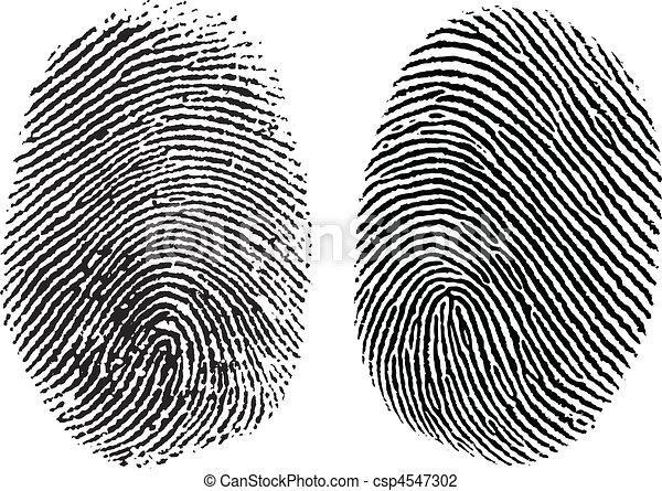 caractères, vecteur, doigt - csp4547302