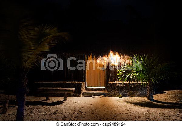 Caraibico penin messico cabanas capanne yucatan for Piani di progettazione cabana