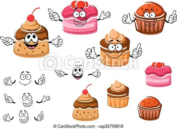 caramel, petits gâteaux, pudding, chocolat , csp32709818