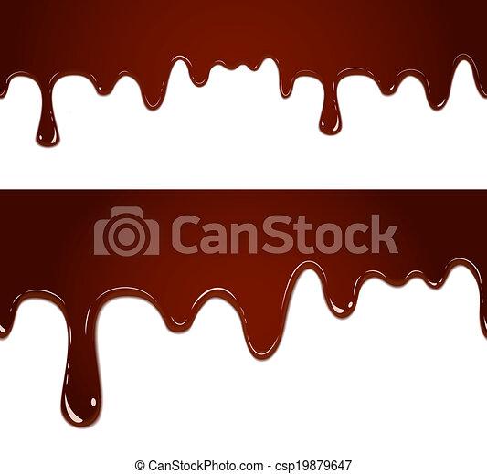 caramellato, fluente, cioccolato - csp19879647