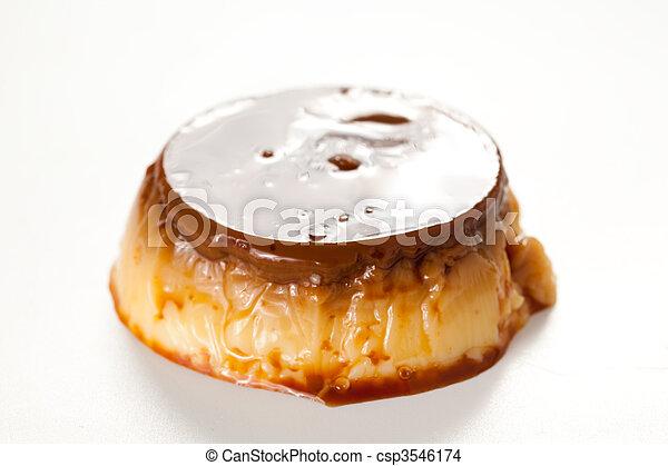 caramelo, flan, huevo, casero - csp3546174