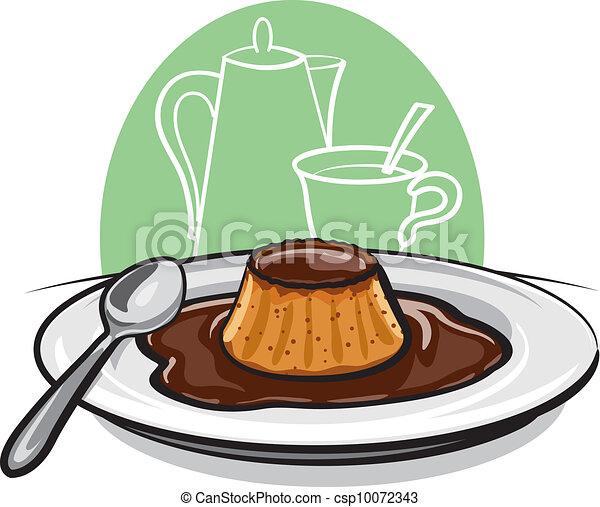 Flan de flan de caramelo - csp10072343