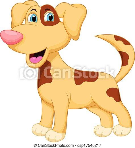 carattere, cane, cartone animato - csp17540217