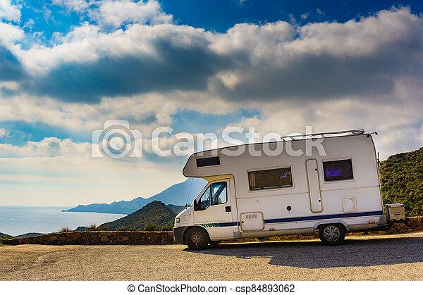 Caravan in Park Cabo de Gata, Spain - csp84893062