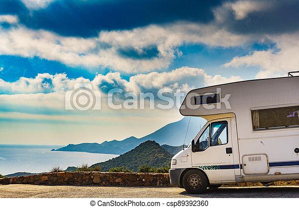 Caravan in Park Cabo de Gata, Spain - csp89392360