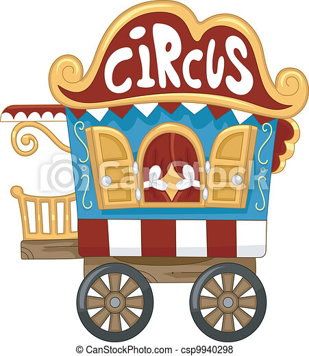 Caravane cirque illustration vecteur search clip art - Caravane dessin ...