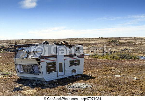 caravane, vieux, caravane - csp47971034